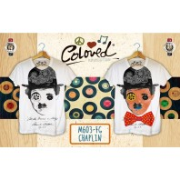 T-SHIRT COLORED REVOLUTION CHAPLIN CHE CAMBIA COLORE AL SOLE A/I 2016